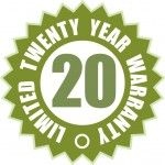 20-Year manufacturer's Warranty