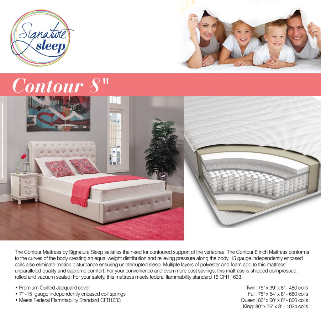 Signature-Sleep-Contour-8-Inch-Mattress-for your family