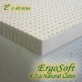 2 Inch ErgoSoft Natural Latex Foam Mattress Pad Topper reviews