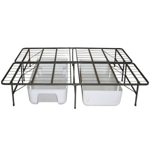 Extra space storage underneath the Sleep Master Platform Metal Bed Frame/Mattress Foundation